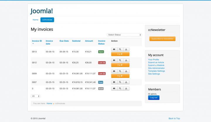 New layout on Joomla! 3