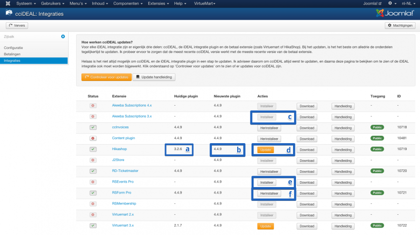 improved integrations view